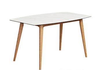 Manhattan 白陶板餐桌