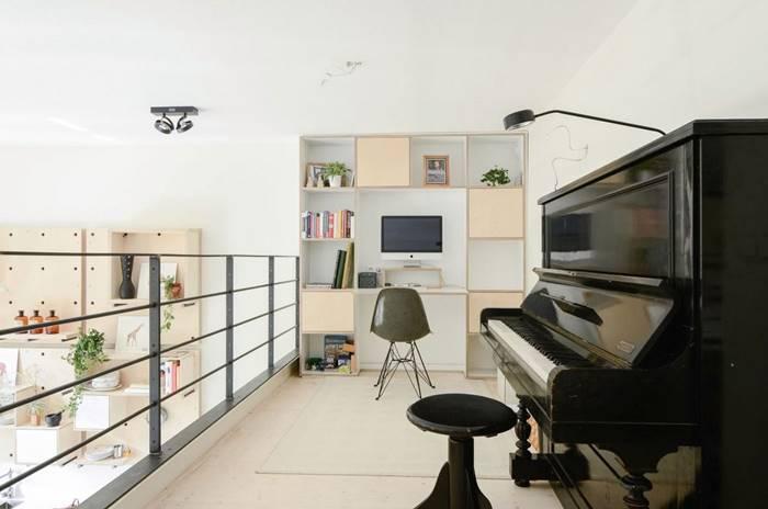 彈鋼琴休閒娛樂和工作都在開放式的空間進行
