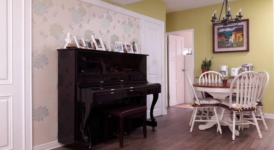 開放式鋼琴餐桌擺設(2)